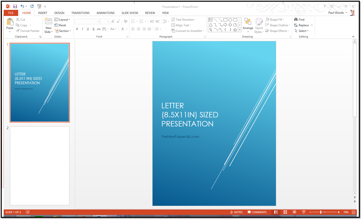 letter sized presentation? change the size of your powerpoint, Powerpoint templates