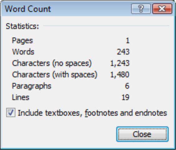 count how many words in an essay