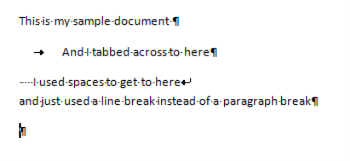 Codes in Word 2007