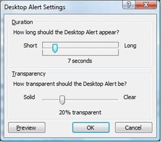 Desktop Alert / Toast / Email Notification settings in Outlook 2007 - TheNewPaperclip.com