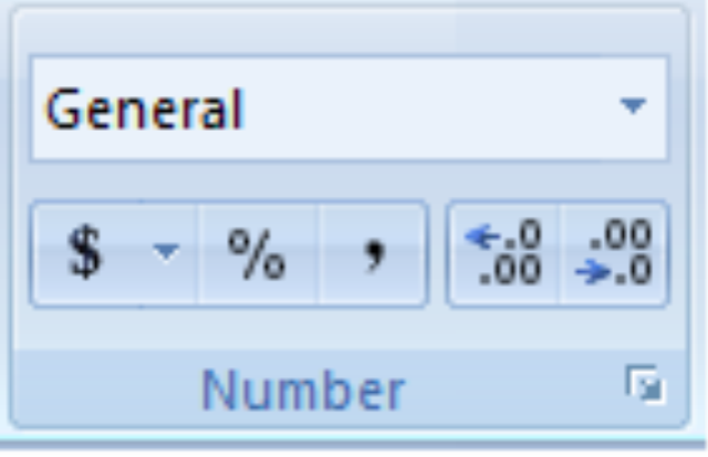 Number Formatting In Excel 2007 Office 2007 2010